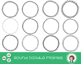 Round Circle Doodle Frames Clipart