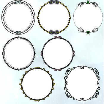 Round/Circular Frames Set 2