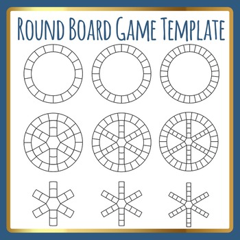 Round Cycles Board Game Template (Like Trivial Pursuit) Clip Art Commercial Use