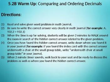 Round Decimals to Tenths and Hundredths (Math TEK 5.2C)