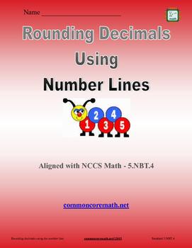Round Decimals using Number Line - 5.NBT.4