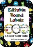 Editable Monster Labels *freebie*
