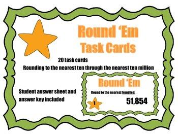 Round 'Em Task Cards