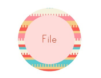 Round Filing Labels