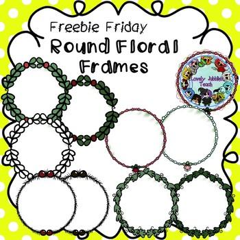 Freebie Friday 15: Round Floral Frames Clip Art