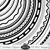 Round Frames Clip Art Borders Clipart Photo Frame Decorative Scrapbooking