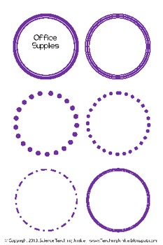 Round Labels (FREE and EDITABLE) by Science Teaching ...