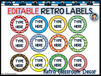 Round Labels (editable)