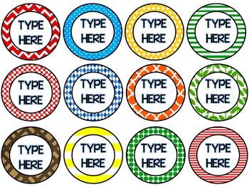 Round Labels (editable)