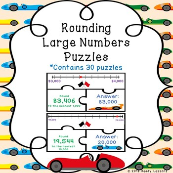 Round Multi-Digit Whole Numbers Rounding Number Line Rounding 4th Grade 4.NBT.3