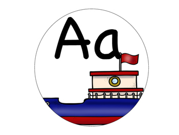Round Nautical Classroom Decor (Alphabet Banner)