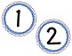 Round Number Labels: 1-8 & Extras