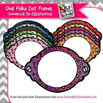 Oval Polka Dot Frames