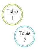 Round Polka Dot Table and Center Labels