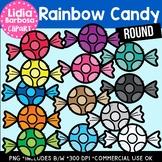 Round Rainbow Candy- Halloween Clipart
