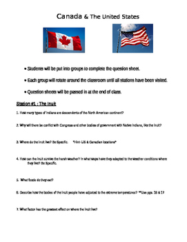 Round Robin Activity: Canada & United States/Alaska Geography, Inuits, Akmaks,