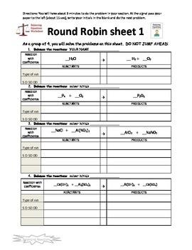 Balancing Reactions Round Robin  Activity