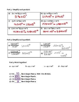Round Robin Converting Scientific Notation Practice