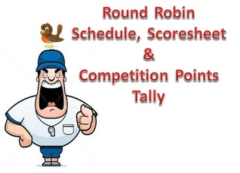 Round Robin Draw Schedule, Scoresheet and Competition Poin