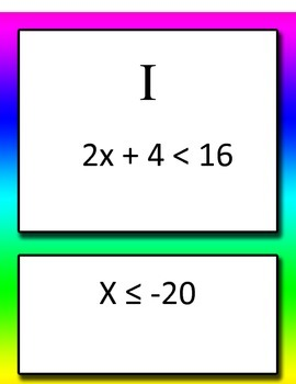 Round Robin One and Two Step Inequalities Math Common Core