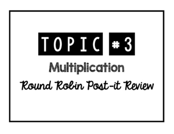 Round Robin Topic #3 Review