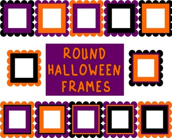 Round Scalloped Edge Halloween Frames