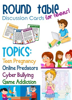 Round Table Discussion Cards for Teens (PNIEB-NEPBE)