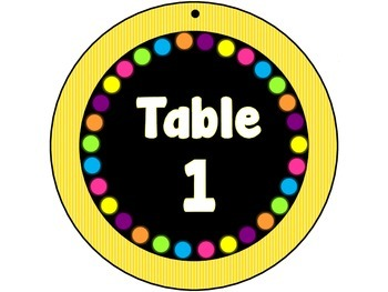 Round Table Signs in 3 Versions Black or White Letters