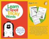 Learn To Spell Words With Tricky Sounds 'ough' & 'igh' (7-11 years)