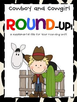 Round-Up! Cowboy Theme Rounding Activities