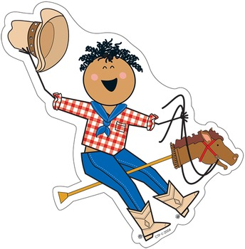 Round Up Stick Kids - Cowboy & Cowgirl Accents for a Western Themed Classroom
