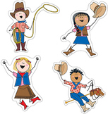 Round Up Stick Kids - Cowboy & Cowgirl Accents for a Weste