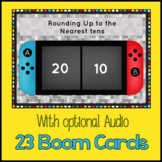 Round Up to the Nearest Tens {Boom Cards} 23 cards W/ Audi