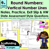 Round: Vertical Number Line no prep lesson: notes, CCLS pr