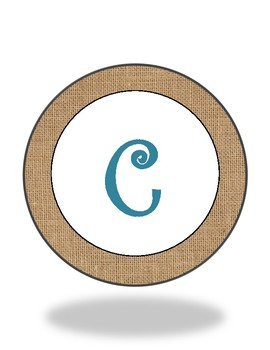 Round Welcome Turquoise Burlap Banner (Freebie!)
