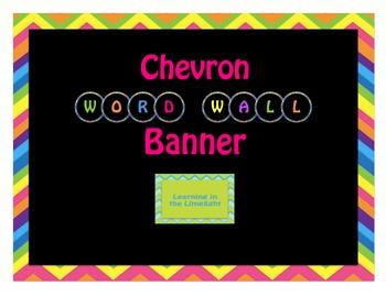 Word Wall Alphabet Headers- Round Black & Bright Chevron