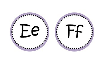 Round Word Wall Labels (Purple)