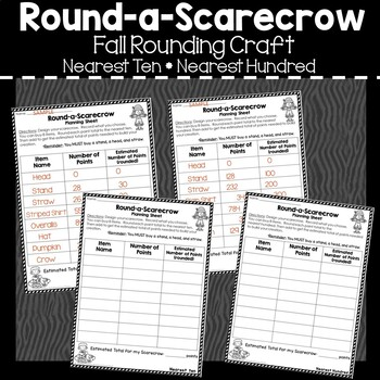 Round-a-Scarecrow:  Fall Rounding Craft