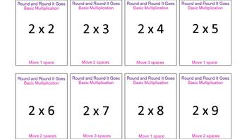 Round and Round It Goes Basic Multiplication Game