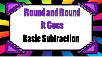Round and Round It Goes Basic Subtraction Game