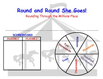 Round and Round She Goes - A Game to Practice Rounding Through the Millions