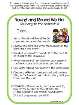 Round and Round We Go! - rounding to nearest 10