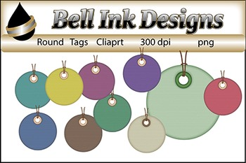 Round tags Clipart