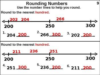 Round to Nearest Hundred (animated)