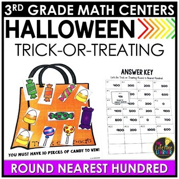 Round to Nearest Hundred Halloween Game