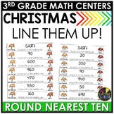 Round to Nearest Ten Christmas Game