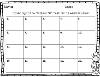 Round to the Nearest 100 Task Cards