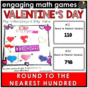 Valentine's Day Round to the Nearest Hundred Game