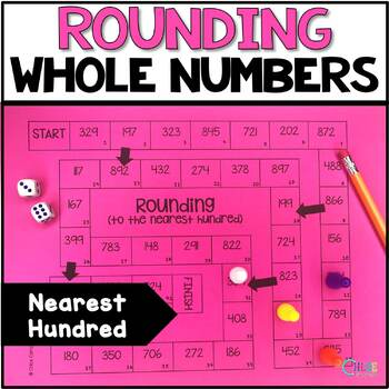 Round to the Nearest Hundred Board Game