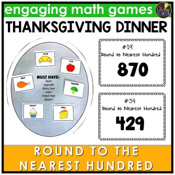 Round to the Nearest Hundred Within 1000 Thanksgiving Game